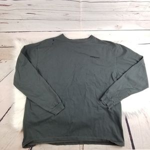 PATAGONIA LONG SLEEVE TSHIRT GRAY MENS XL
